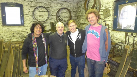 Left to right: Rik Nelson, Ger BUckley, Sam O'Leary and Snader Nederveen